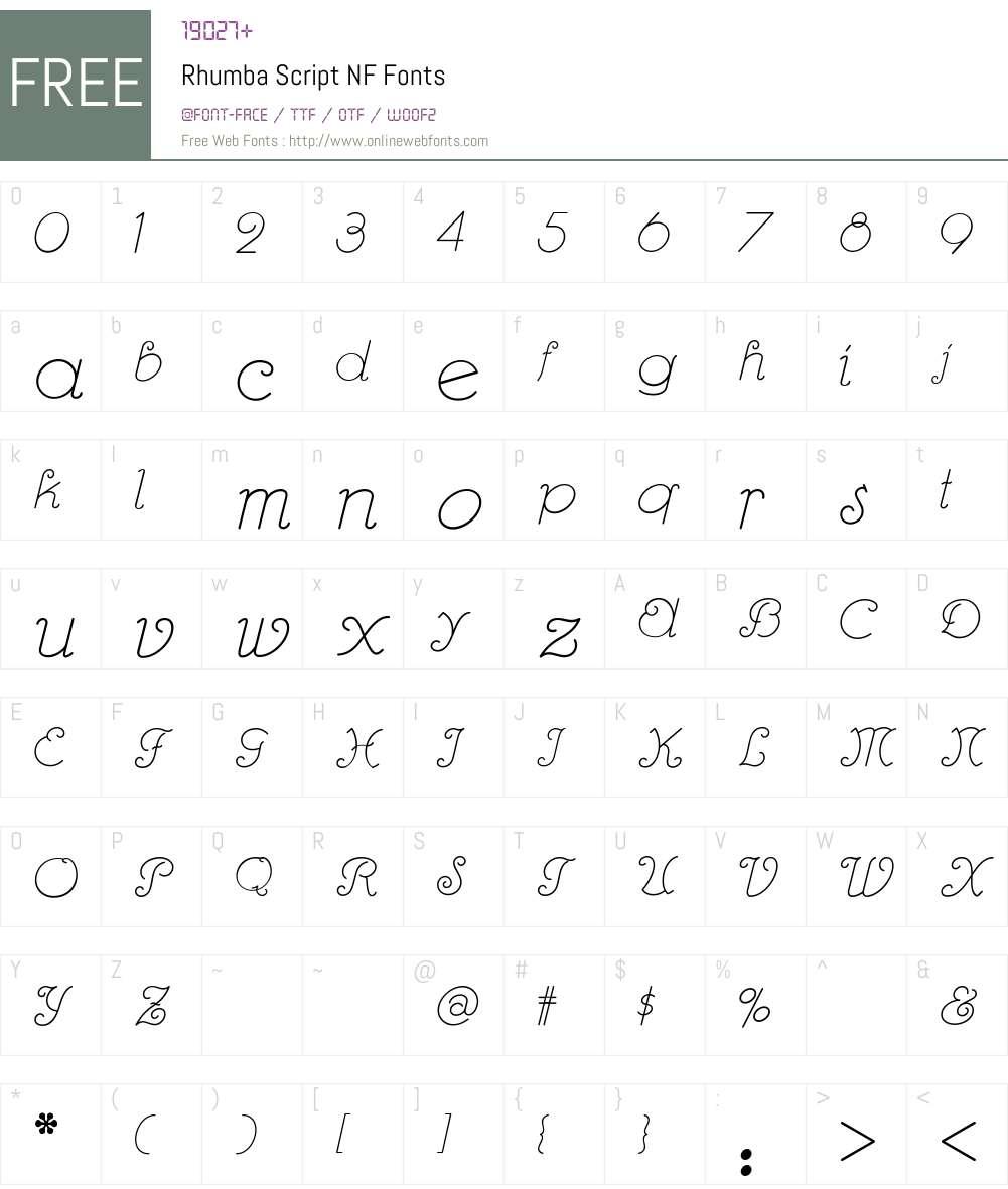 Rhumba Script NF Font Screenshots