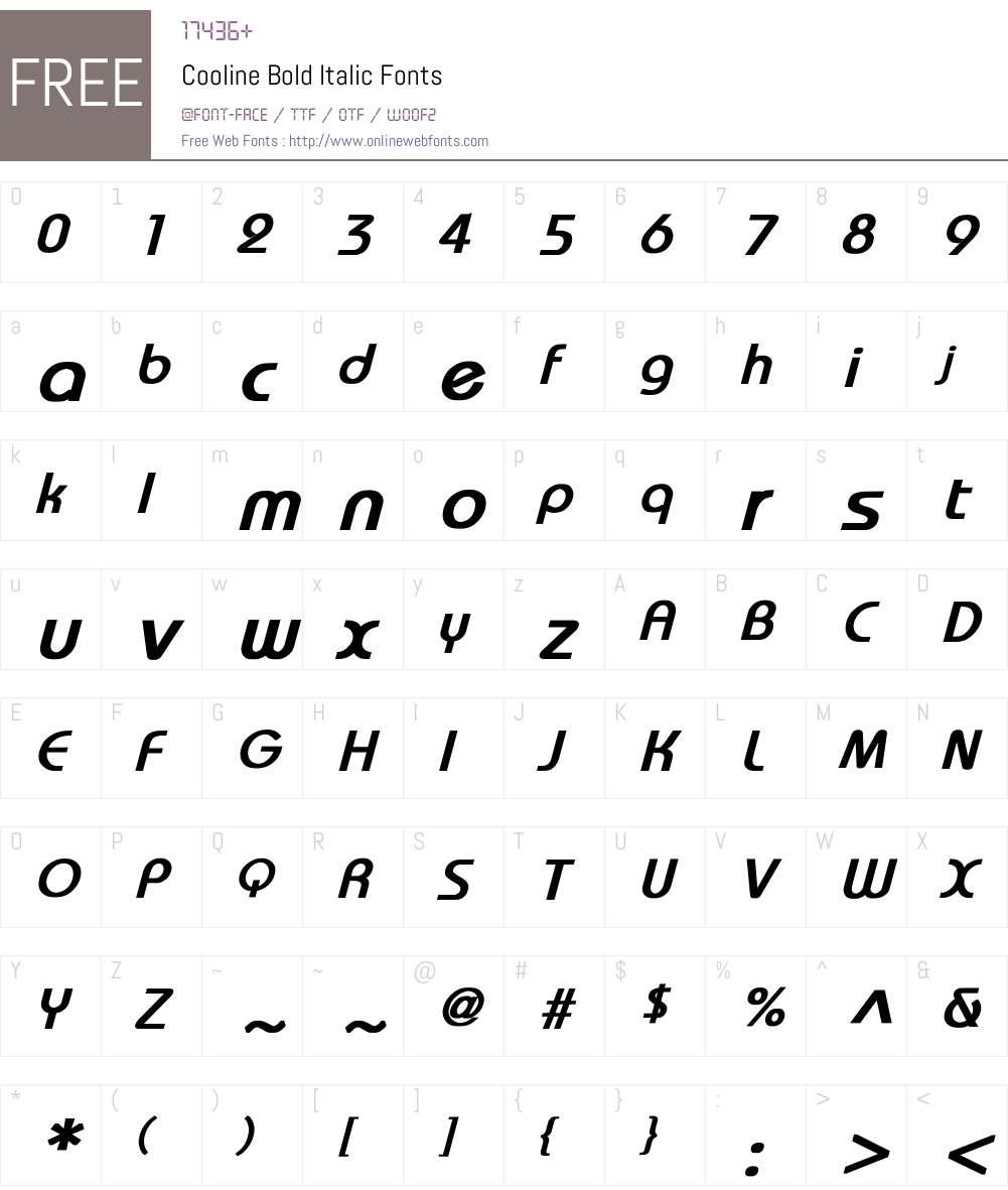 Cooline Font Screenshots