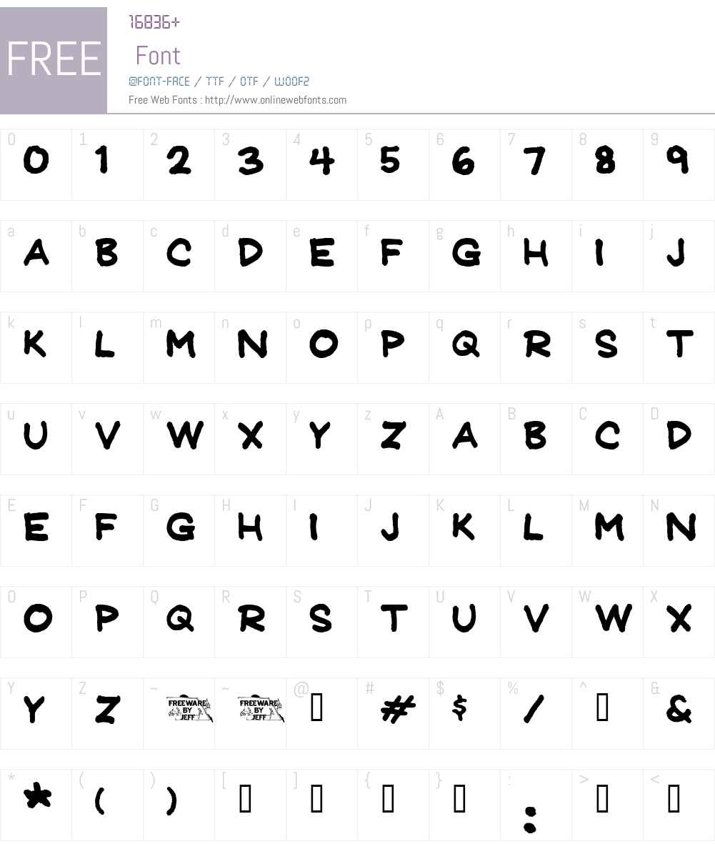 JeffreyPrint JL Font Screenshots