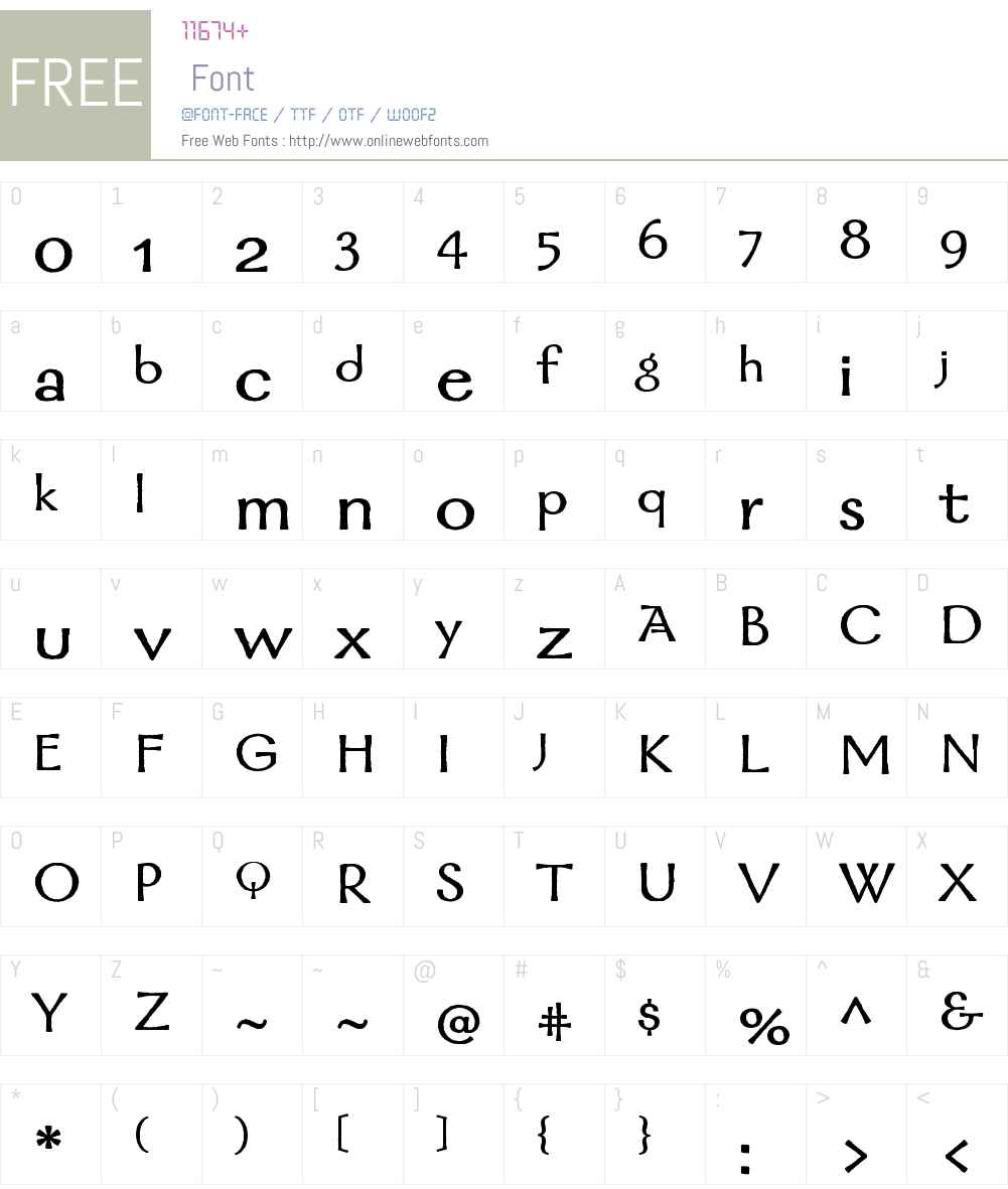 Mordred Font Screenshots