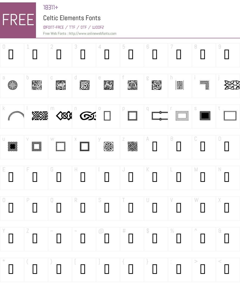 Celtic Elements Font Screenshots