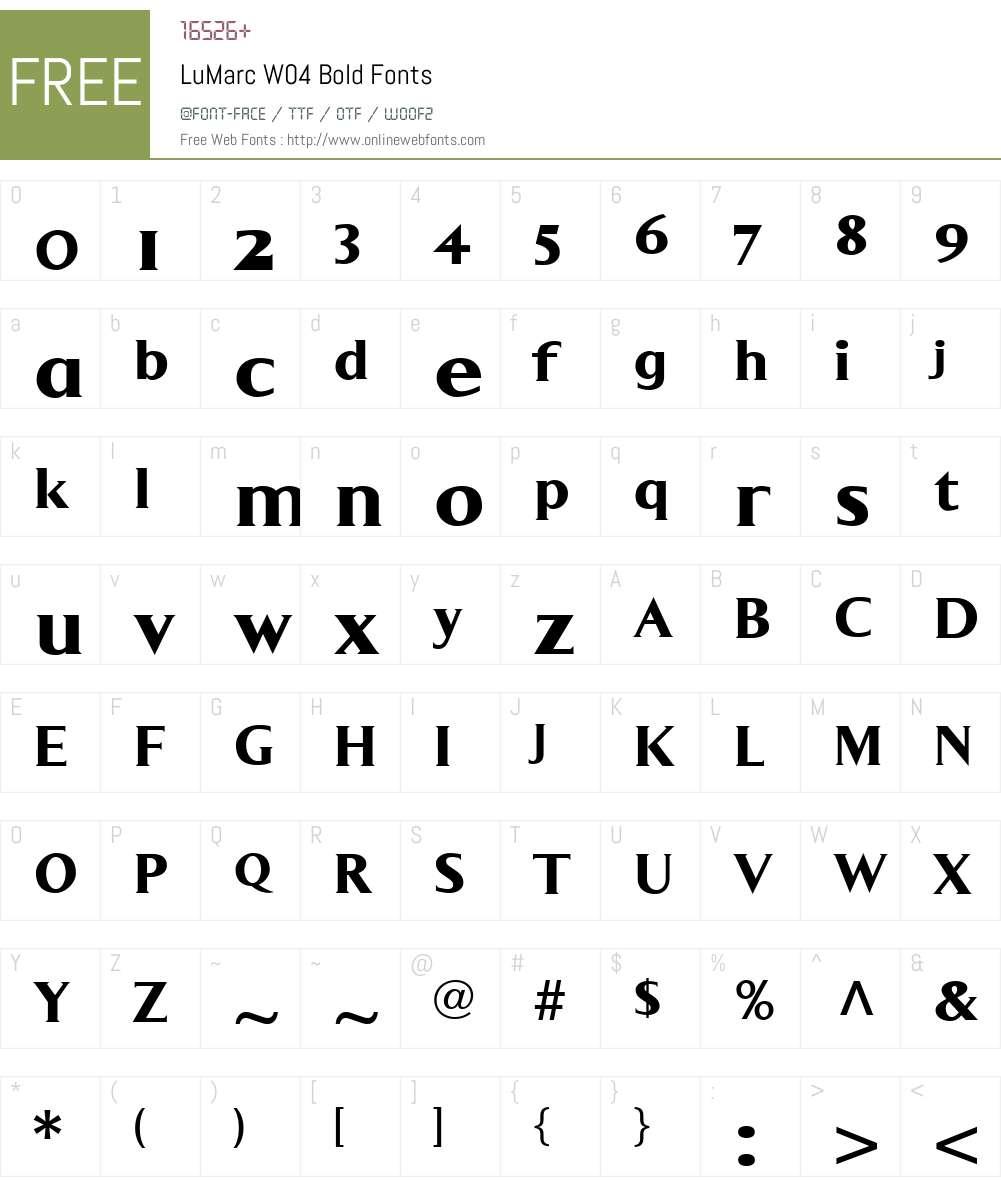 LuMarc Font Screenshots
