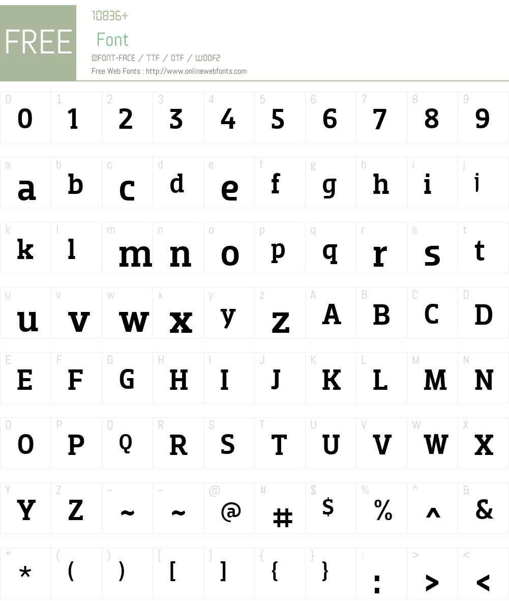 Dobra Slab Font Screenshots