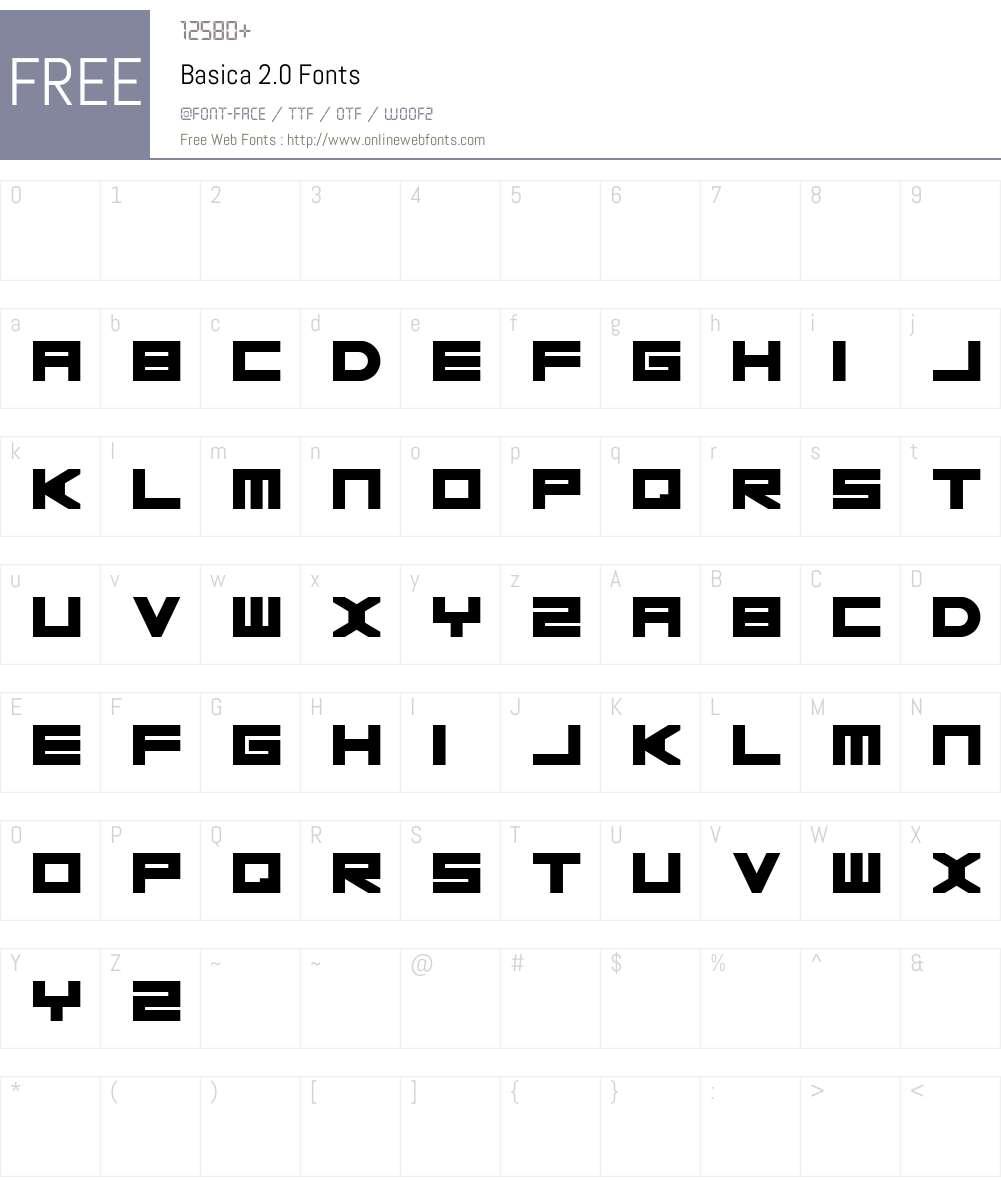 Basica v.2012 Font Screenshots