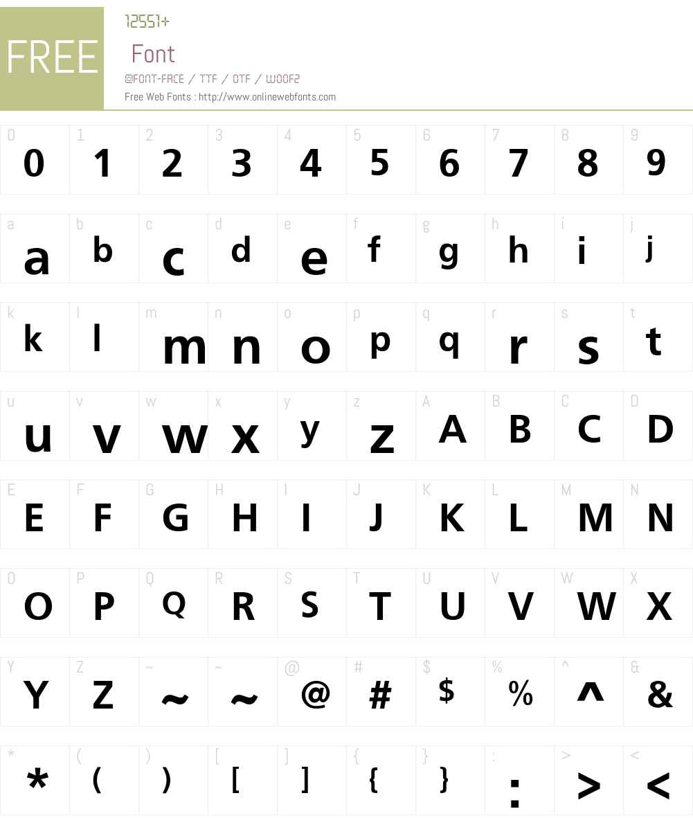 Noisty Font Screenshots