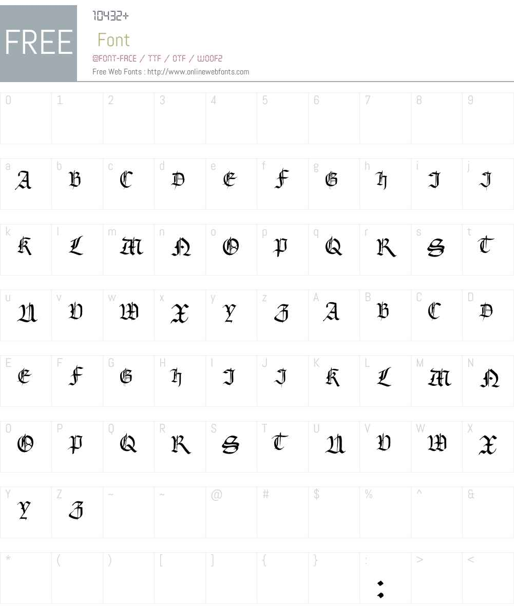 Gourdie Gothic Black Font Screenshots