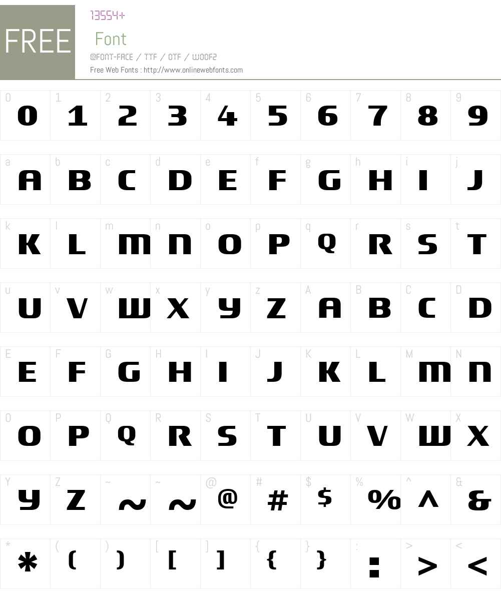 TitaniumMotorsW01-Regular Font Screenshots