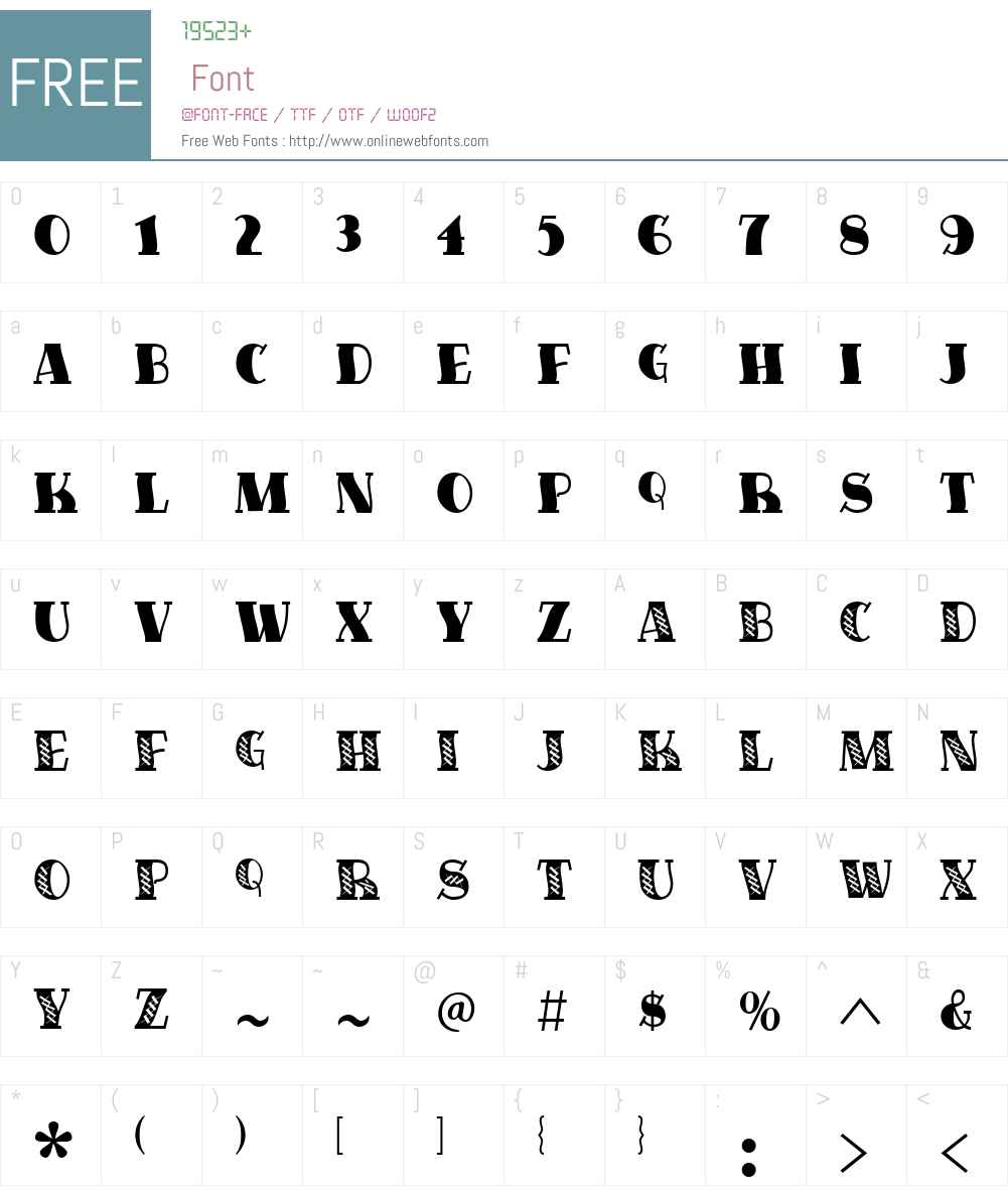 FiveOhOne Font Screenshots