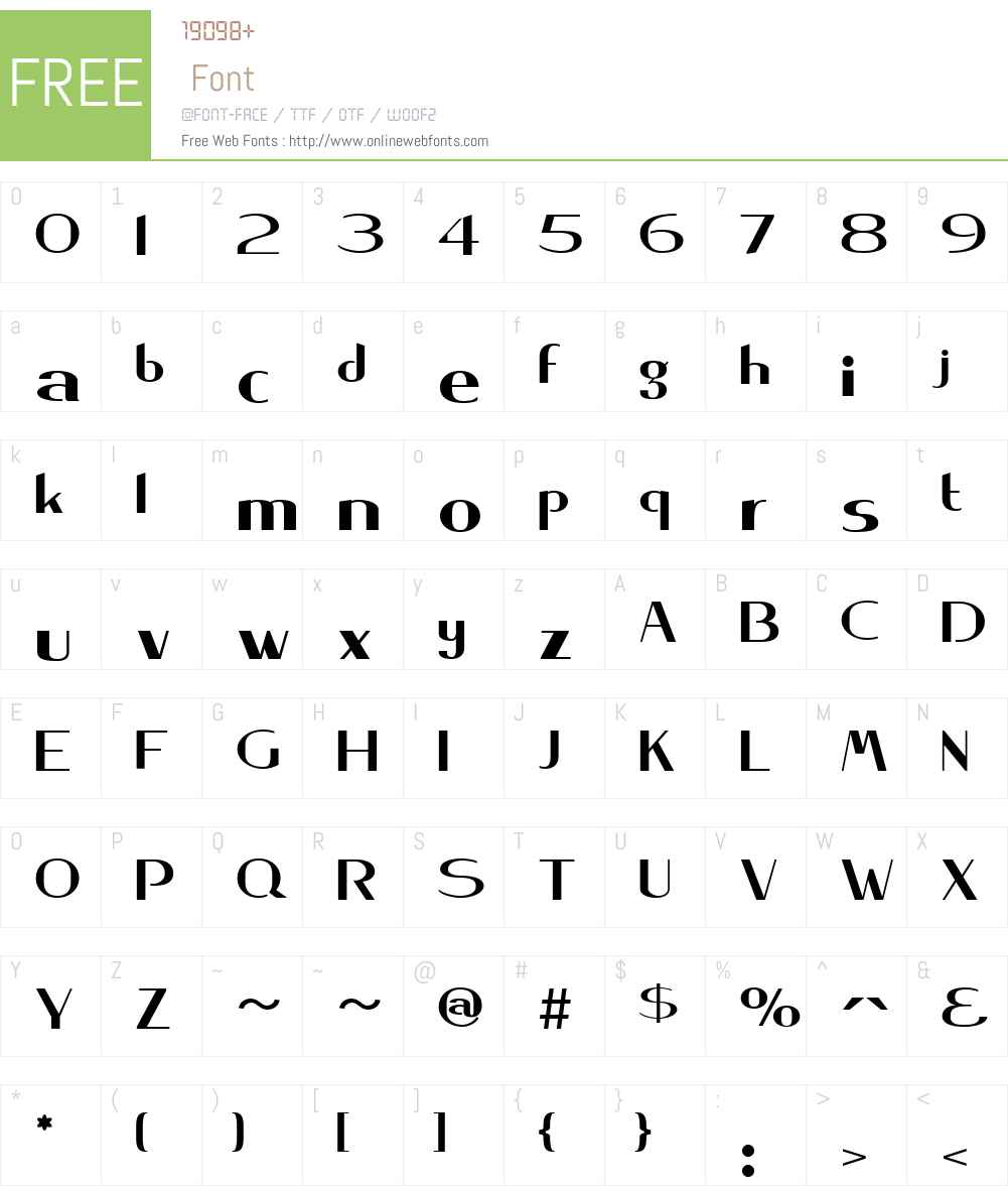 KeynsiaW01-Regular Font Screenshots