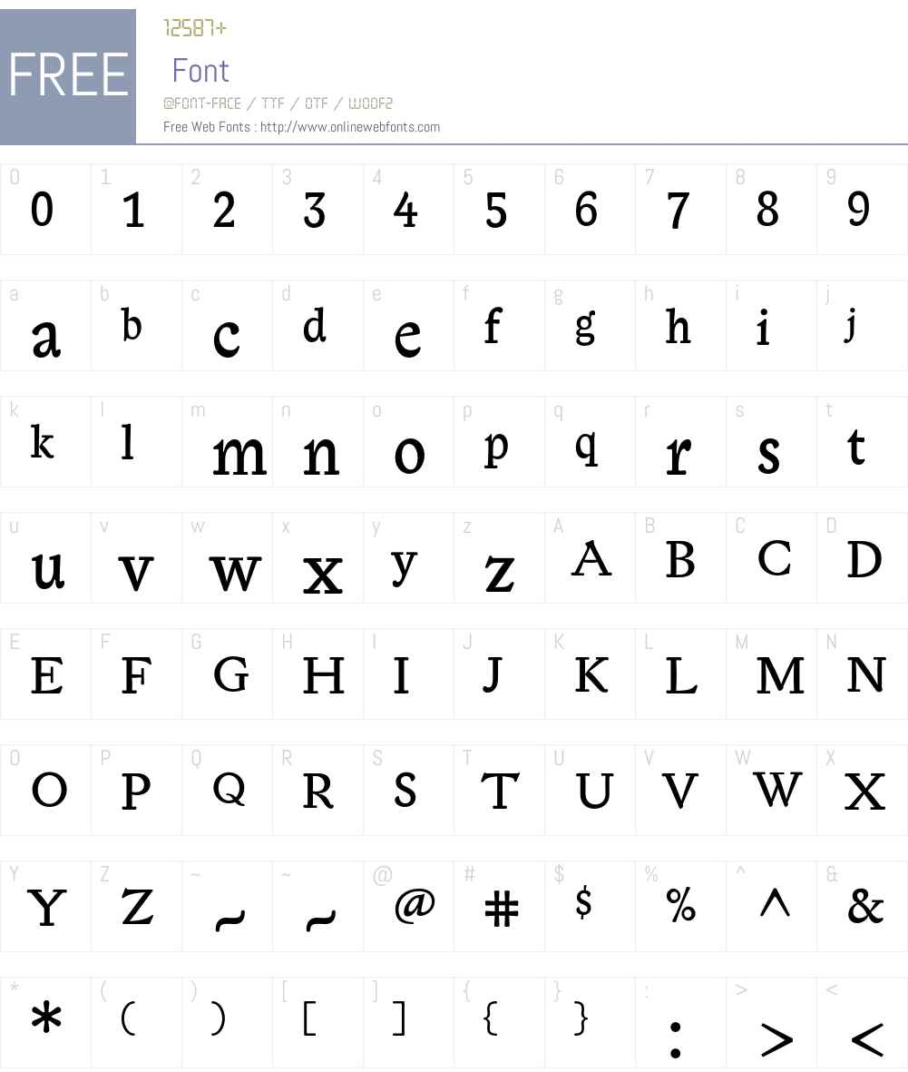 LexiconGothic Font Screenshots