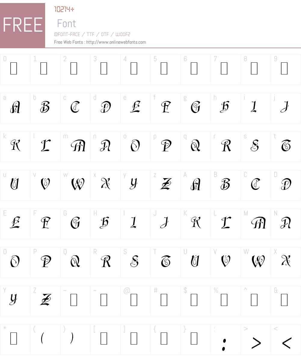 Homestead Font Screenshots