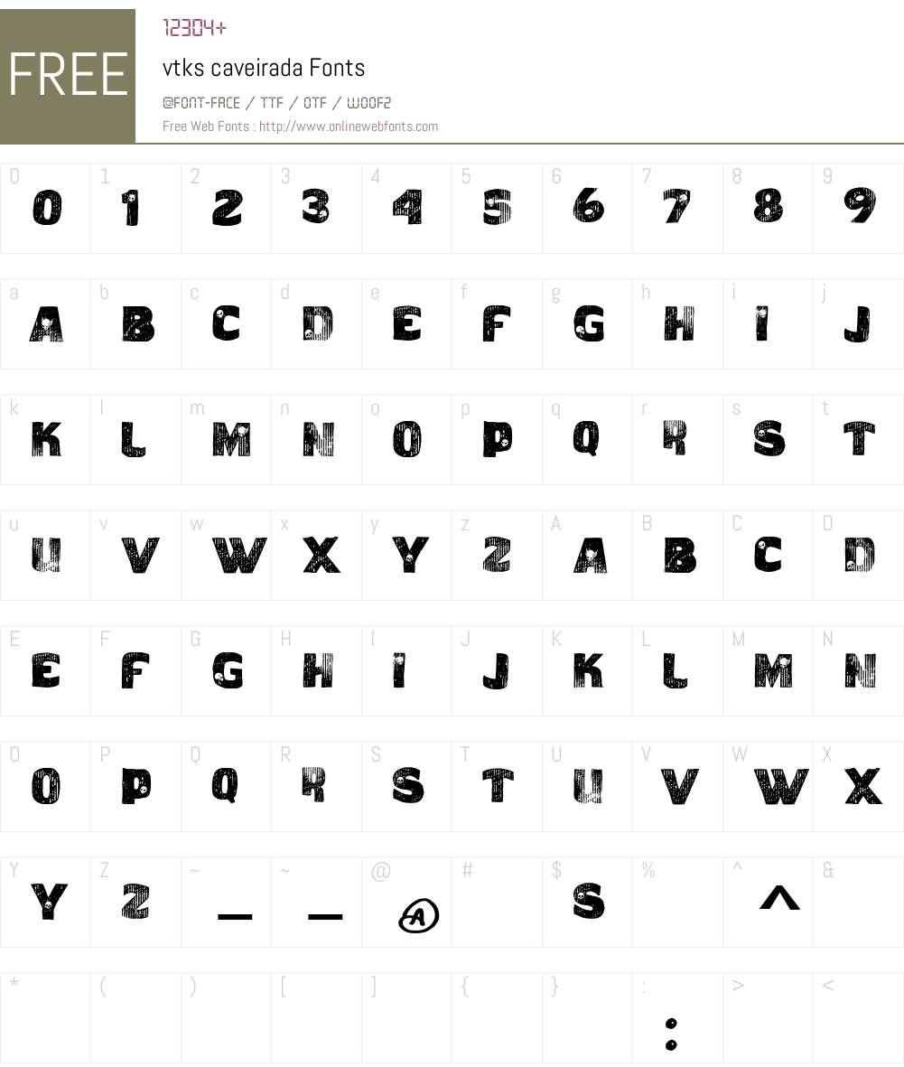 vtks caveirada Font Screenshots