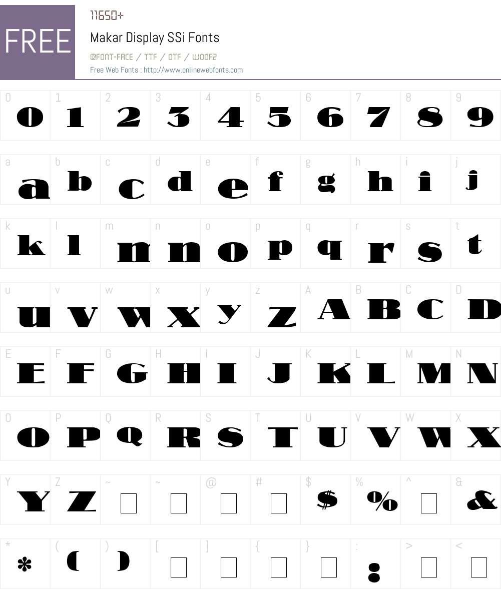 Makar Display SSi Font Screenshots