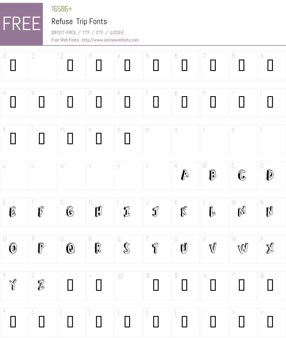 Refuse Font Screenshots