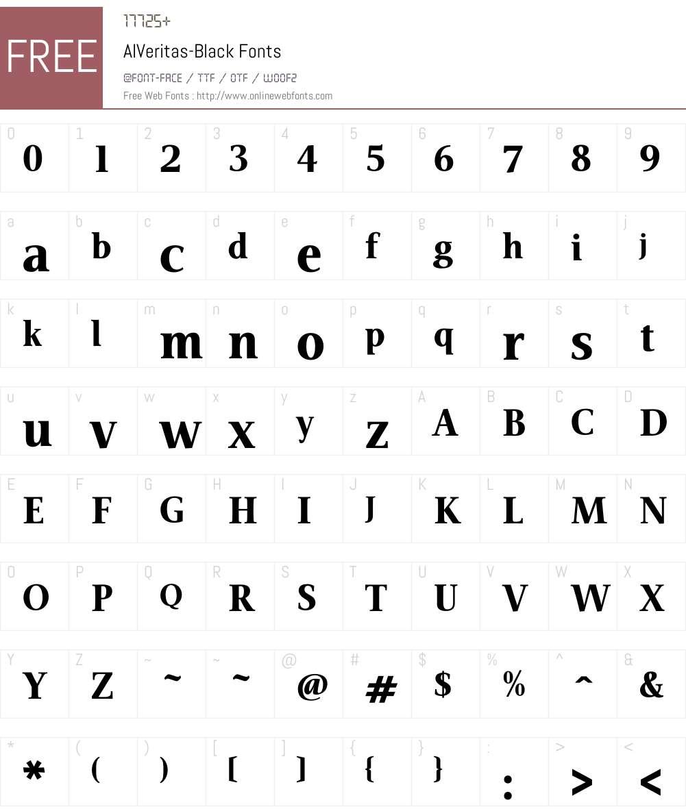 AIVeritas Font Screenshots