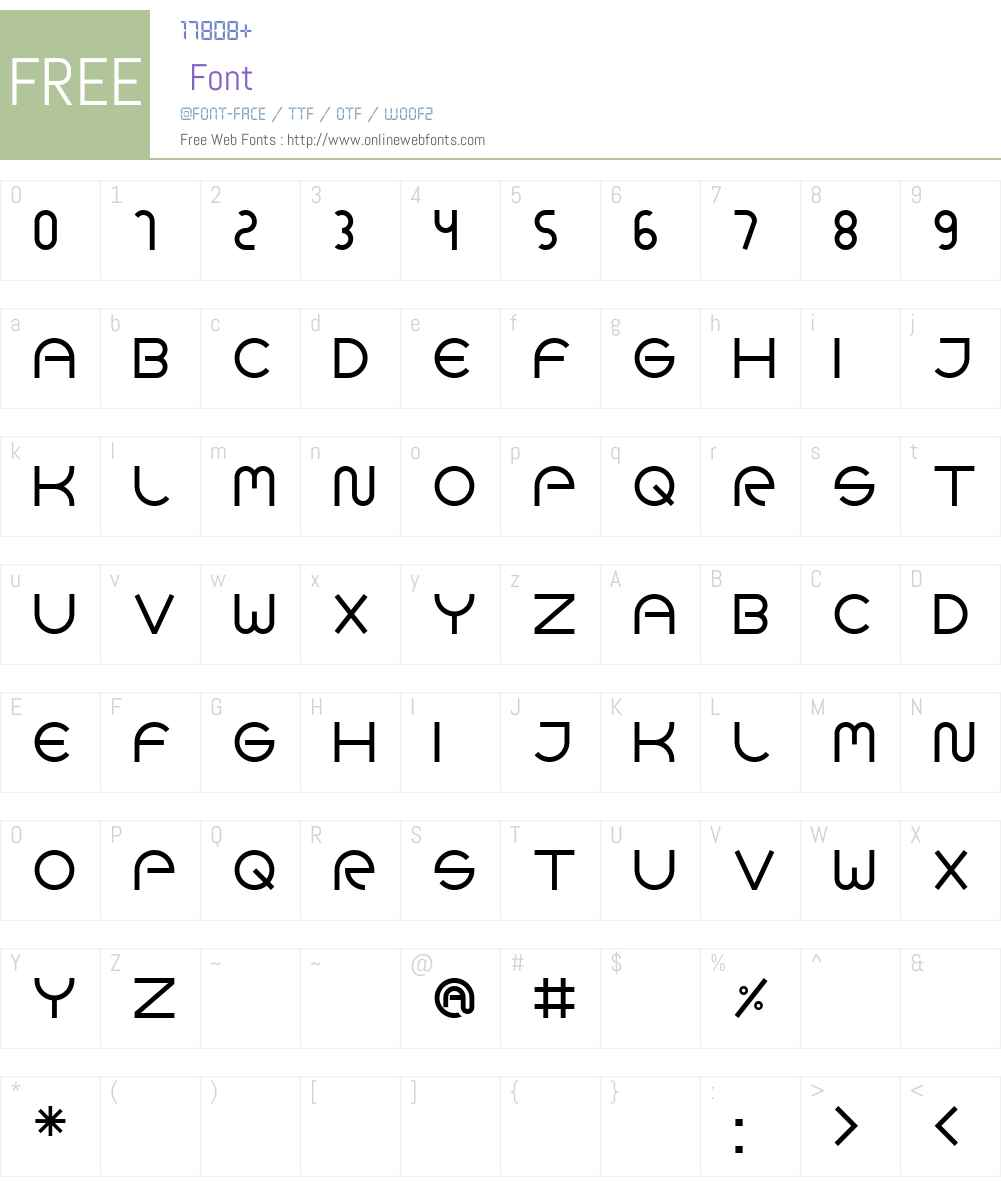 GOCA LOGOTYPE BETA Font Screenshots
