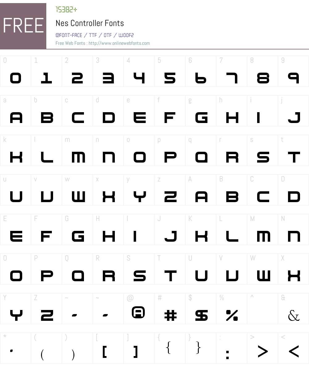 Nes Controller Font Screenshots
