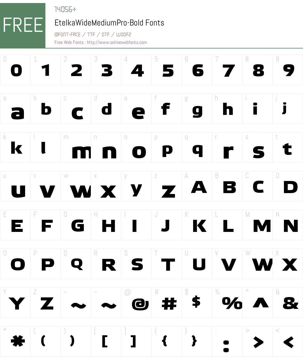 Etelka Wide Medium Pro Font Screenshots