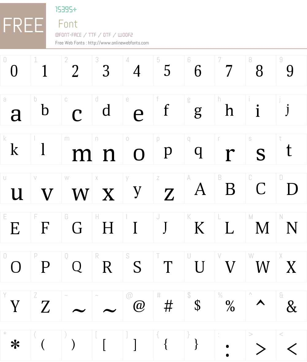 Deca Serif Font Screenshots