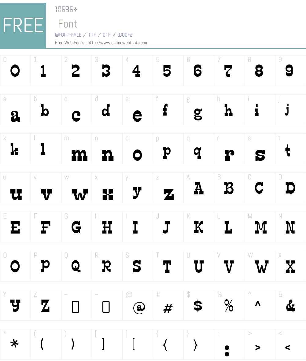 EdmundsW00-Regular Font Screenshots