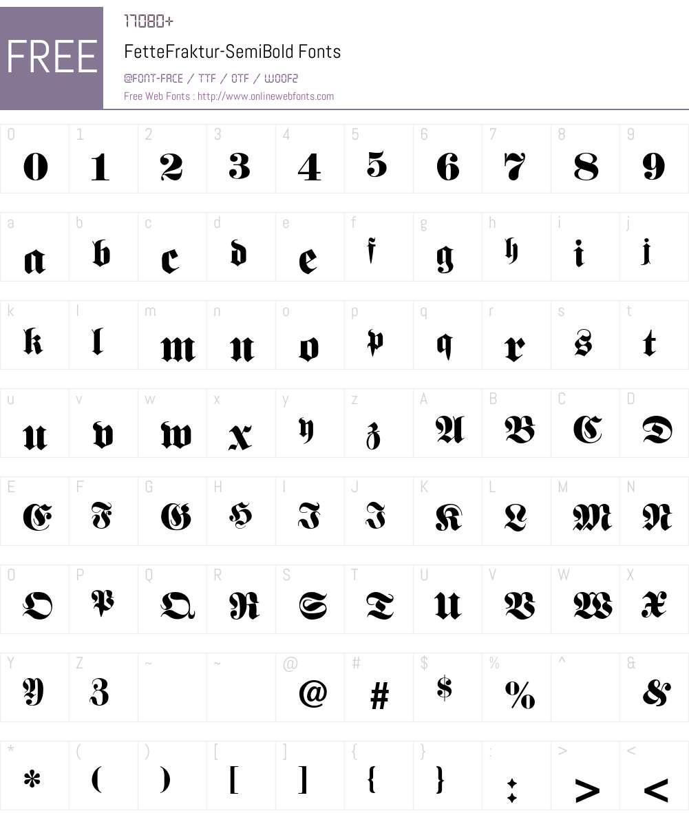FetteFraktur-SemiBold Font Screenshots