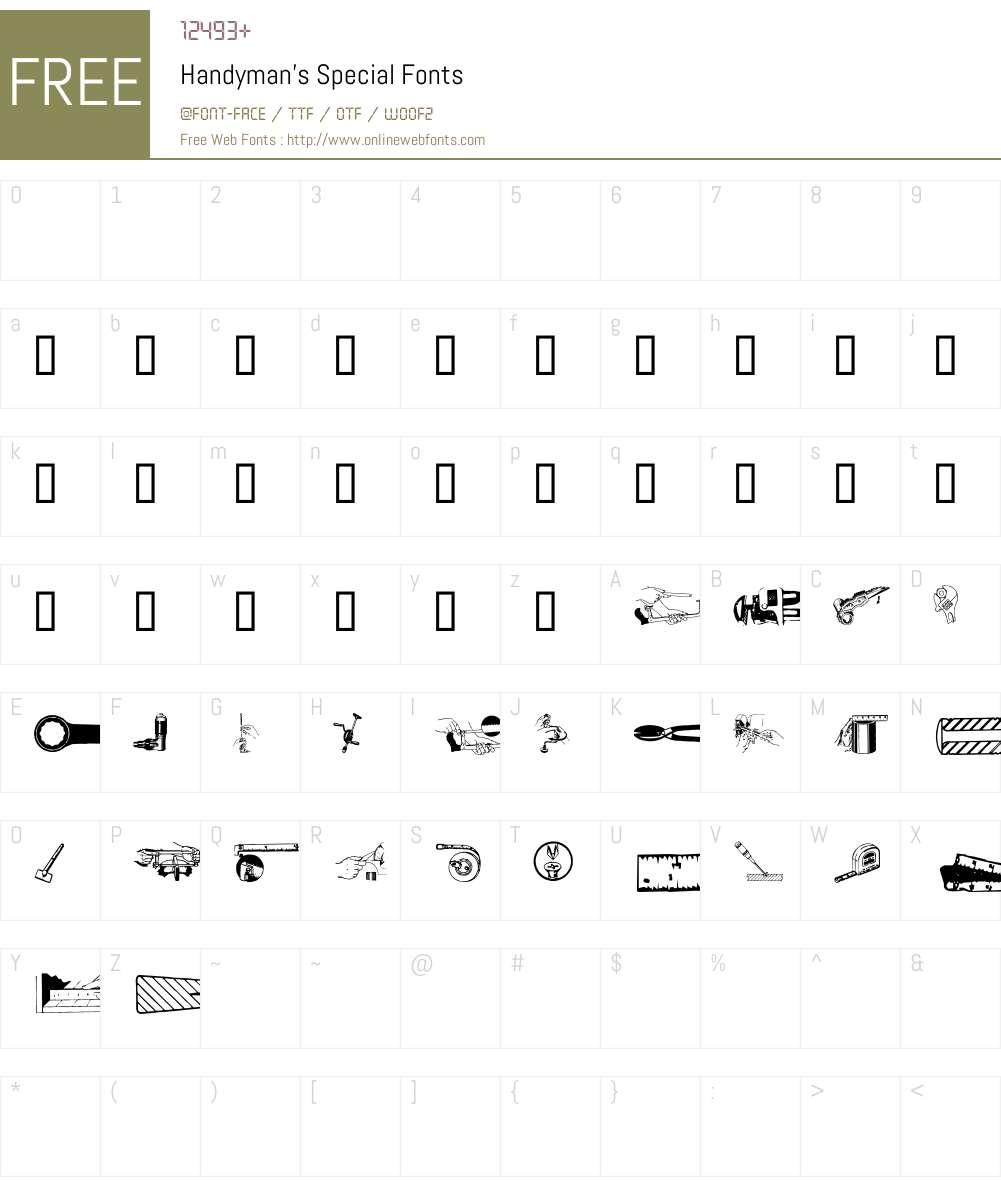 Handyman's Special Font Screenshots