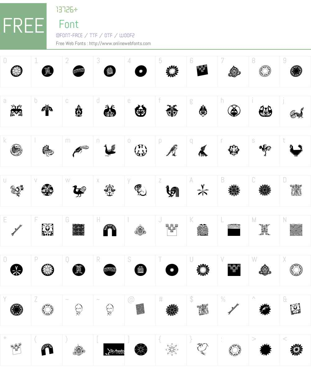 AbstractBats Font Screenshots