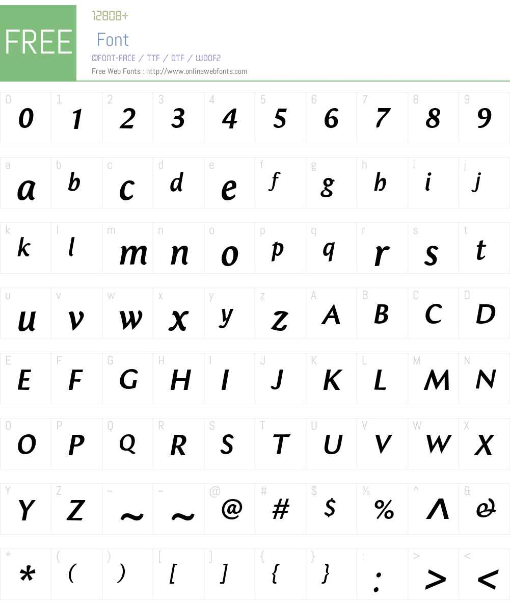 BebopMediumW00-Italic Font Screenshots