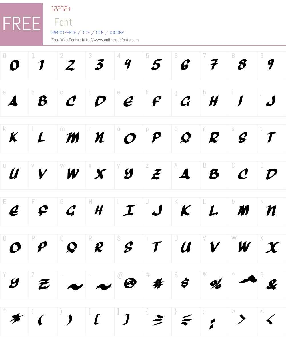 Three Arrows Font Screenshots