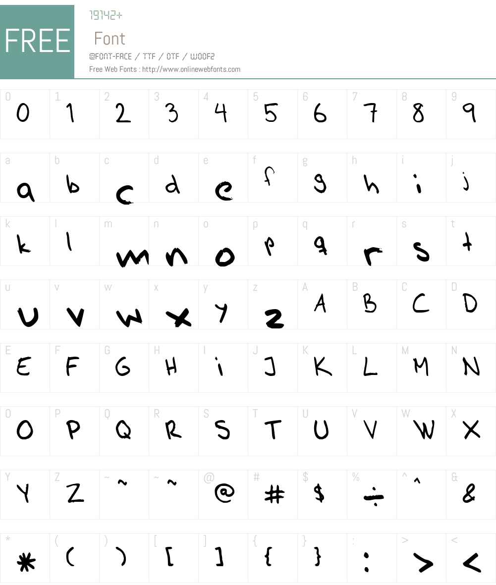 AhnbergHand Font Screenshots