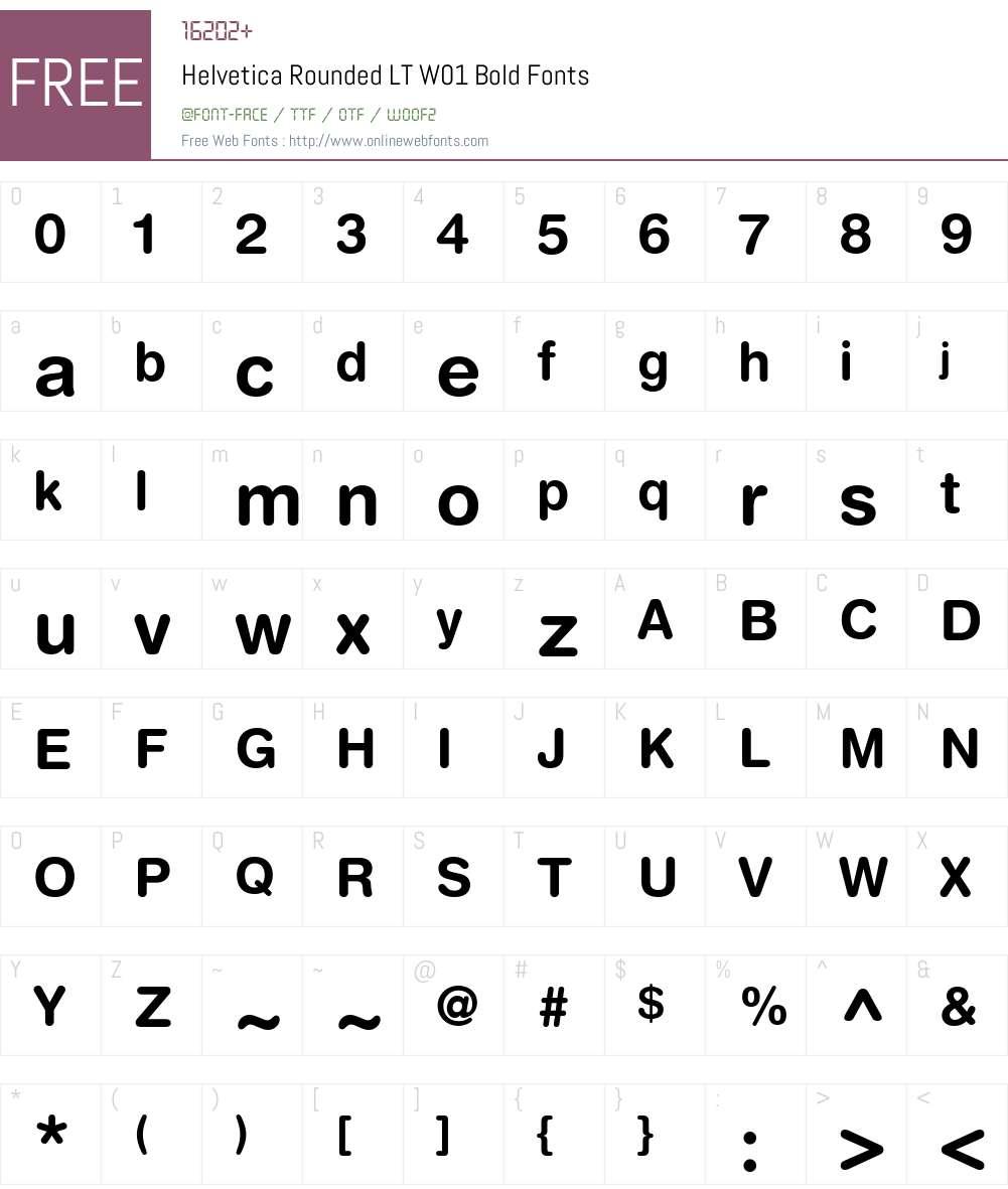HelveticaRoundedLTW01-Bold Font Screenshots