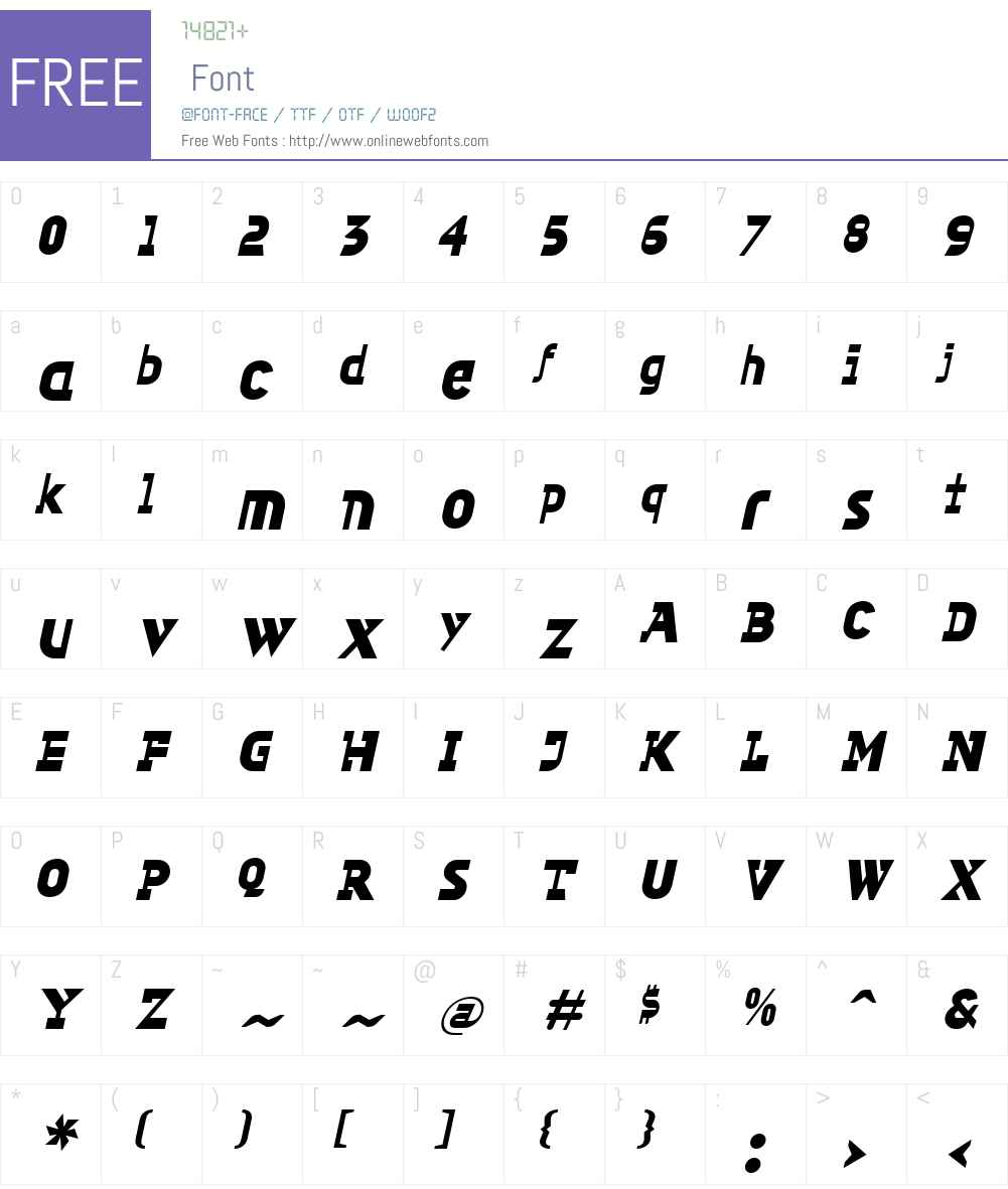 GimpW00-SquareBlackIt Font Screenshots