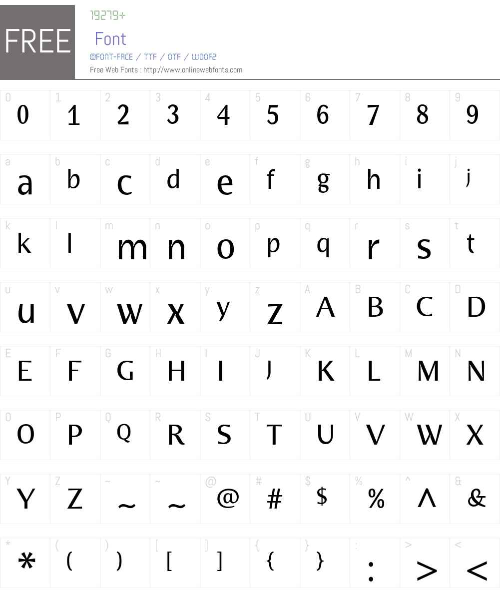 BradloSansCE Font Screenshots