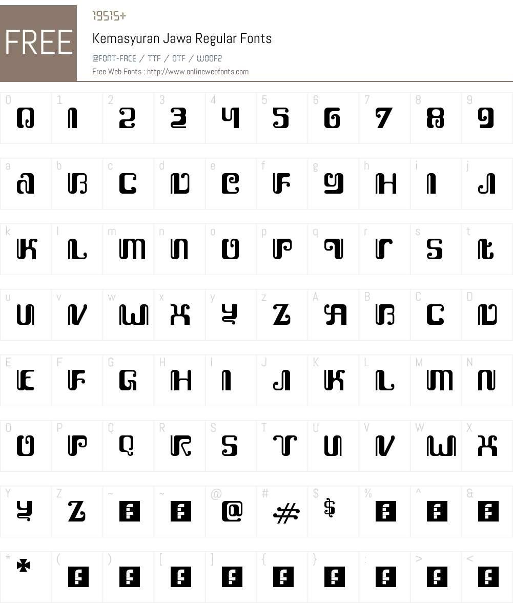 Kemasyuran Jawa Font Screenshots