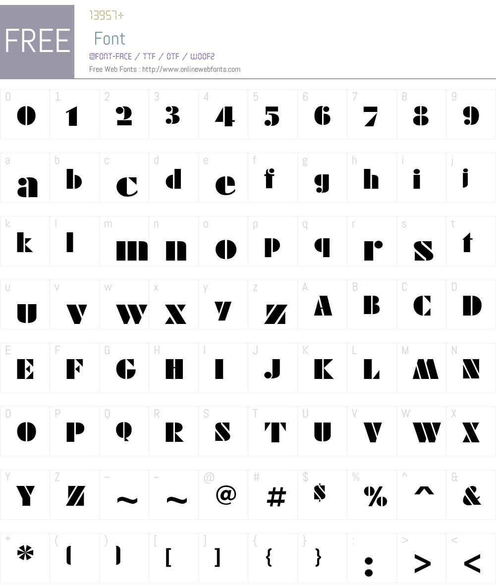 FuturaEugeniaC Font Screenshots