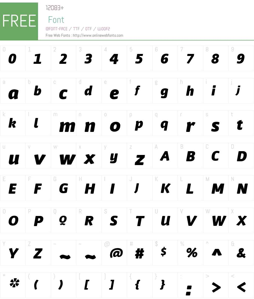 FF Nuvo Font Screenshots