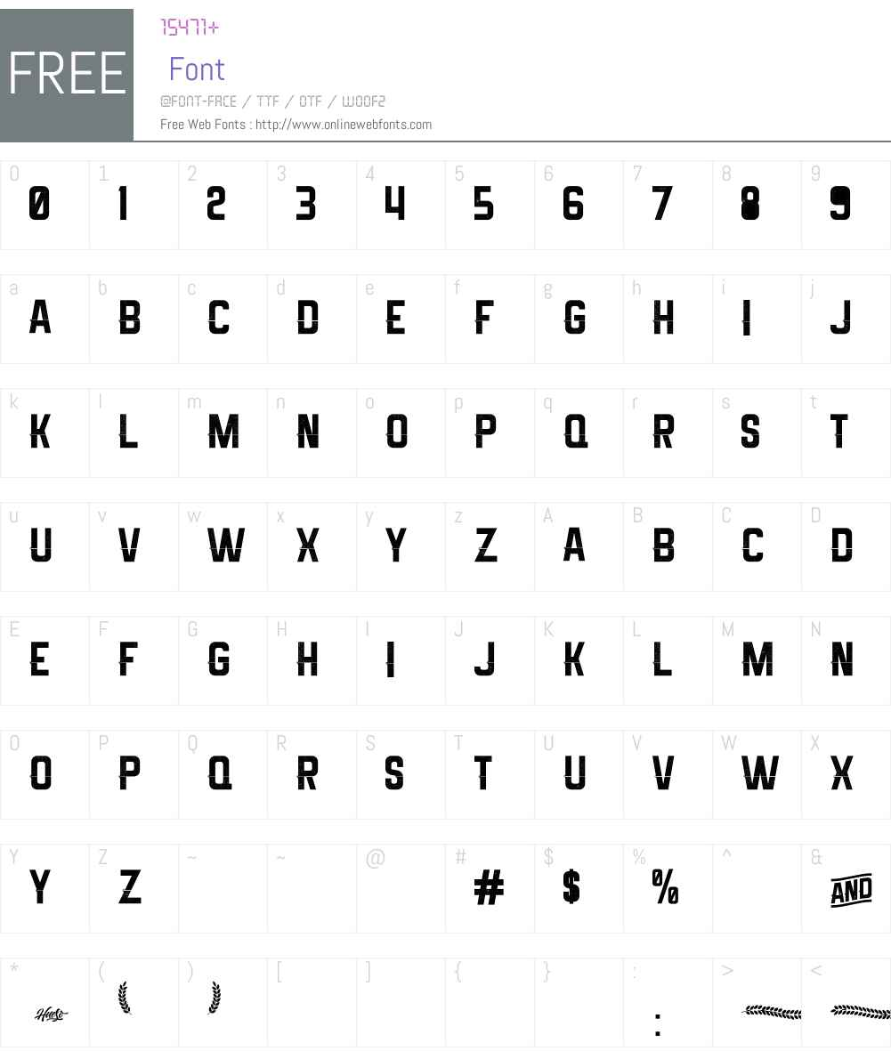 Melma Cracked Font Screenshots