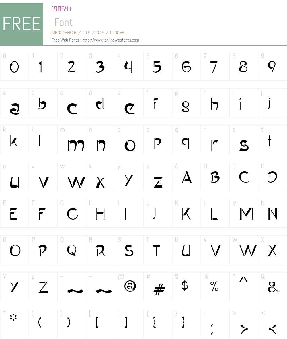 ContypeW01-Plain Font Screenshots