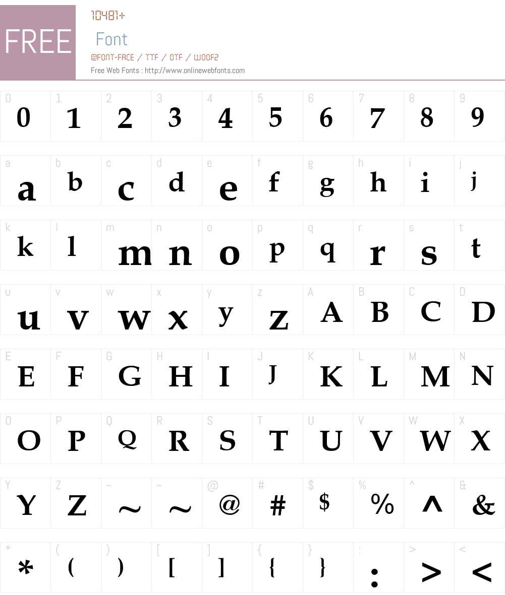 .VnBook-Antiqua Font Screenshots