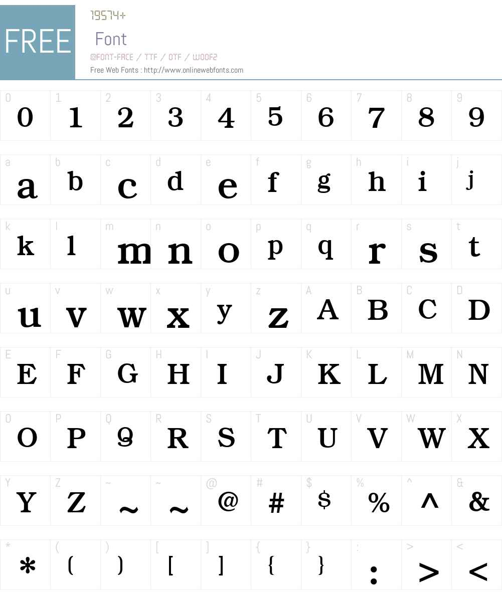 ITCBookmanW01-Medium Font Screenshots