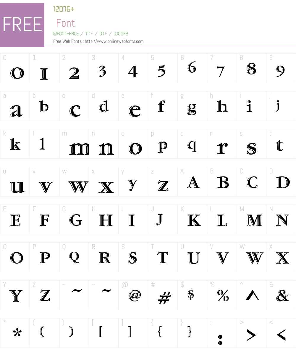 Garamond Handtooled ITC OS Font Screenshots