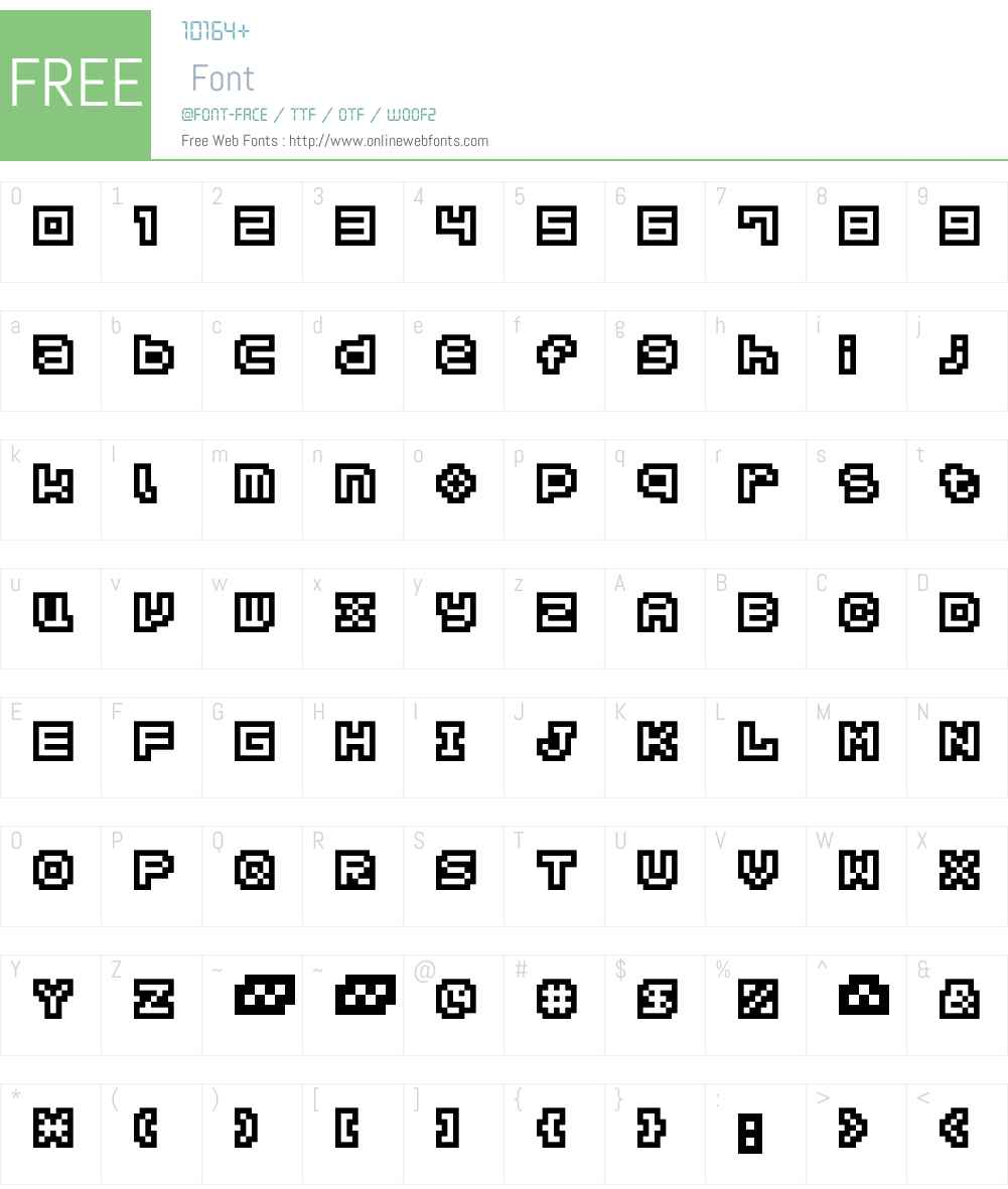 Hachicro Font Screenshots