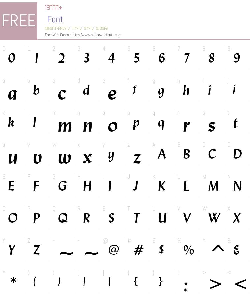 Lydian Font Screenshots