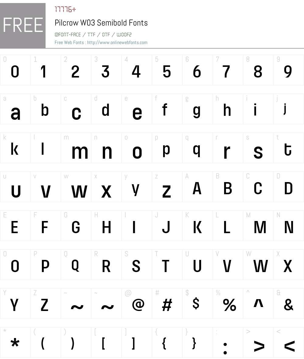 Pilcrow Font Screenshots