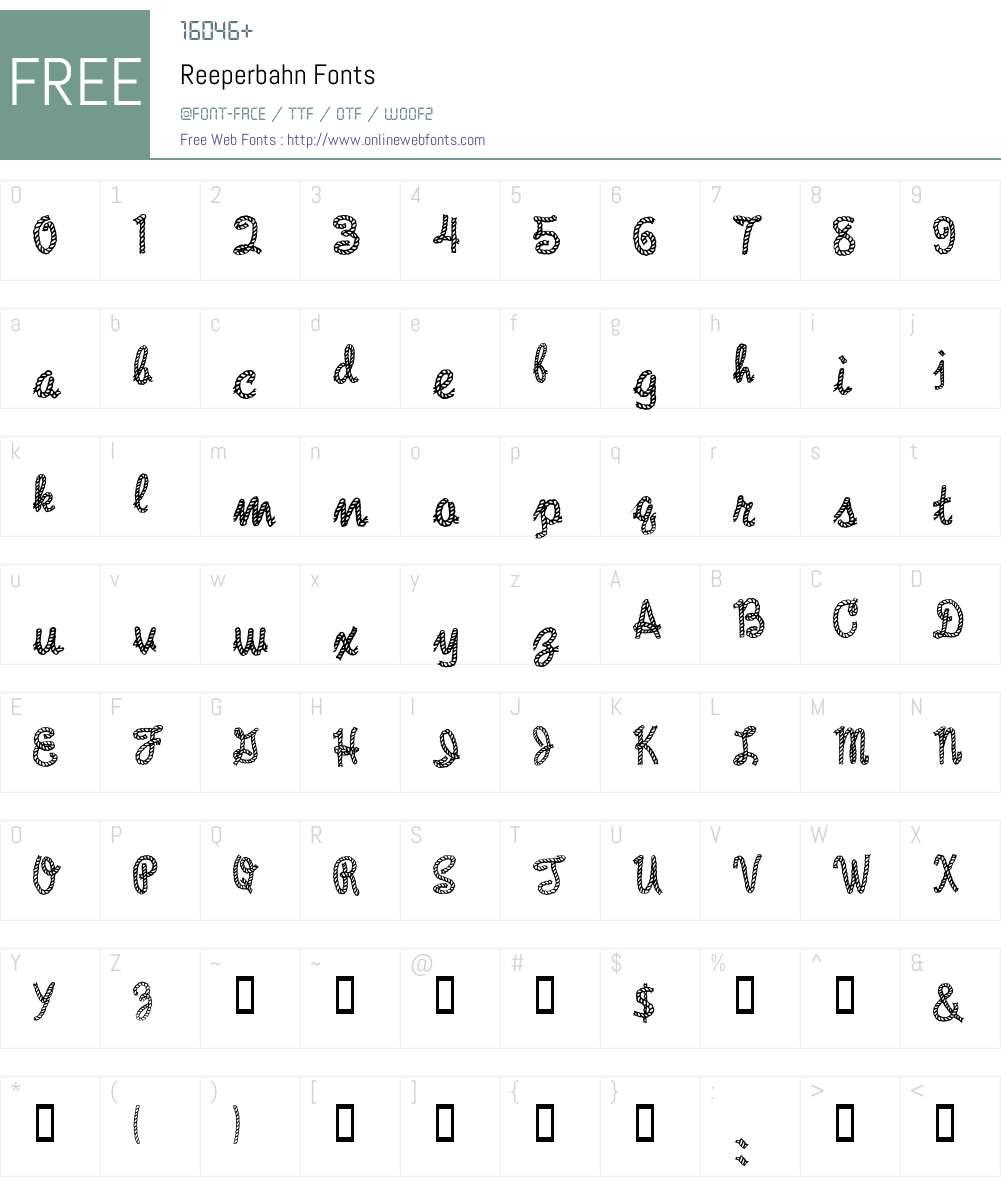 Reeperbahn Font Screenshots