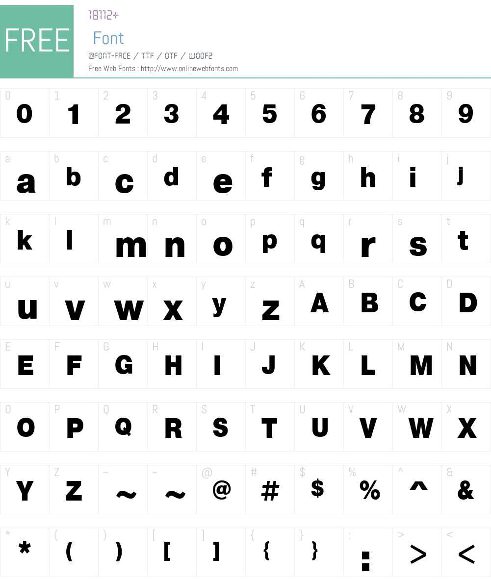 PragmaticaW01-CondBlack Font Screenshots