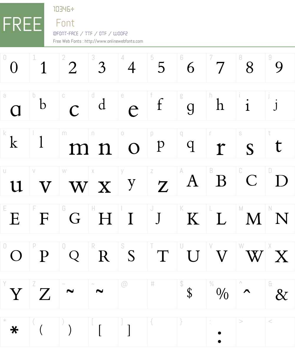 BootsBemboRoman Font Screenshots