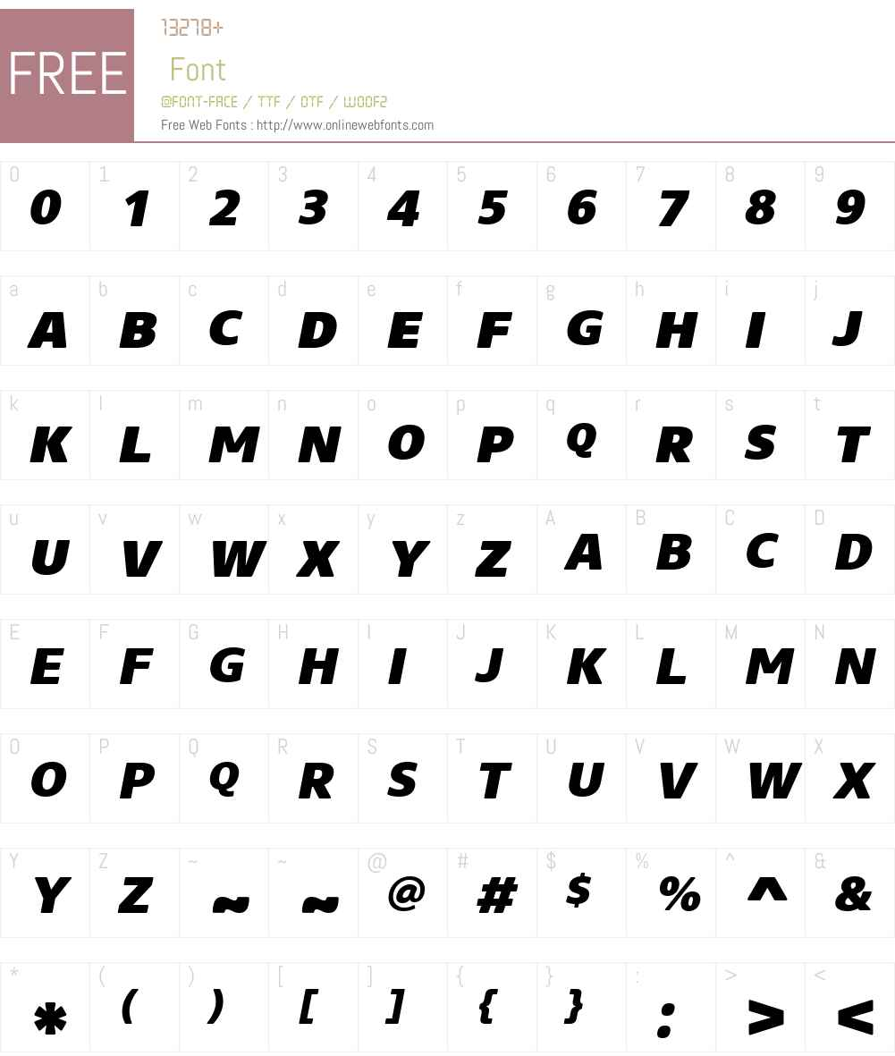 CoreSansNRW01-SC85HvIt Font Screenshots