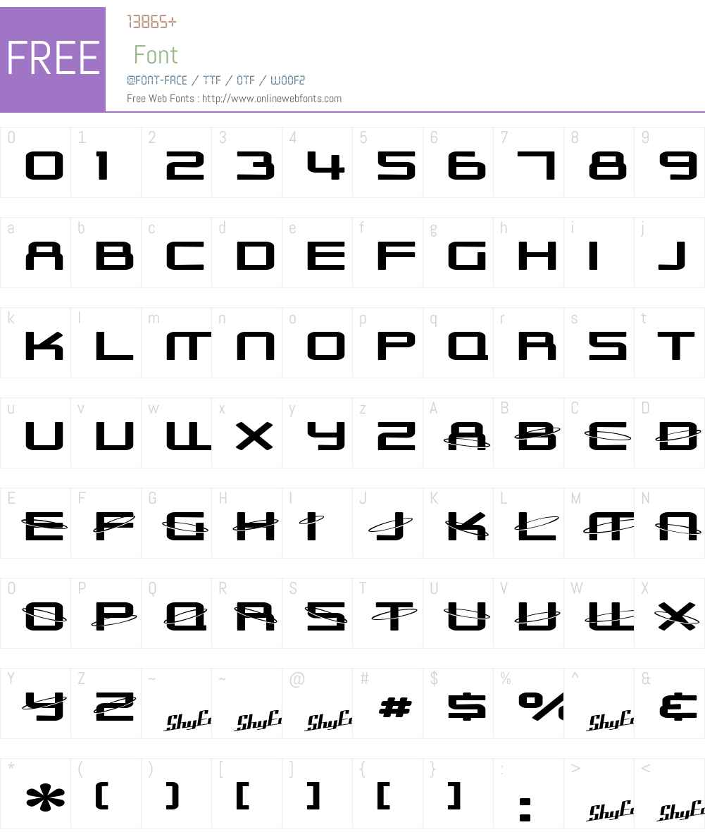 SF Outer Limits ExtUpright Font Screenshots