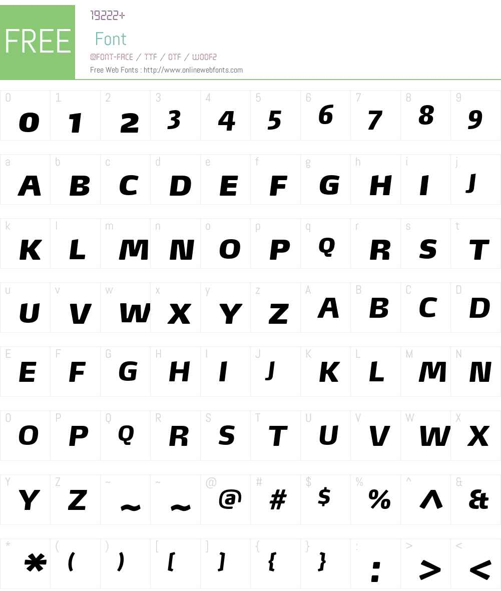 Max-BlackItalicSC Font Screenshots